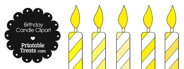 Free birthday candle clipart svg freeuse library Birthday Candle Clipart in Shades of Yellow — Printable Treats.com svg freeuse library