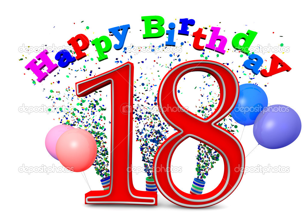 Free birthday clipart for 18 year old. Happy download clip art