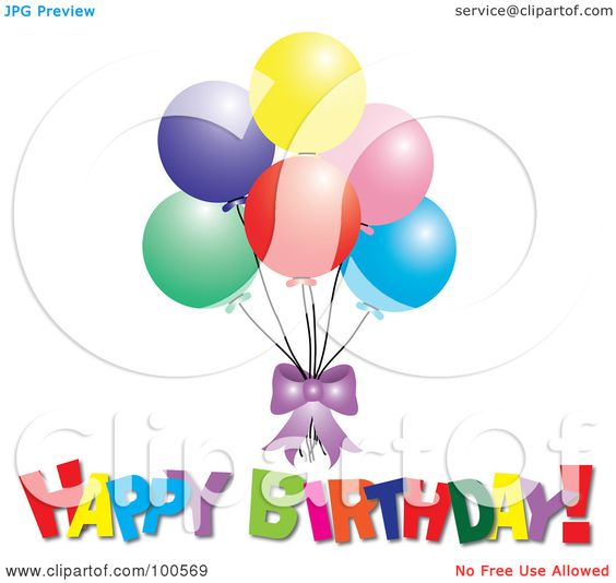 Free birthday clipart for facebook png library download Free Happy Birthday Clip Art Balloons Icons For Facebook Royalty ... png library download