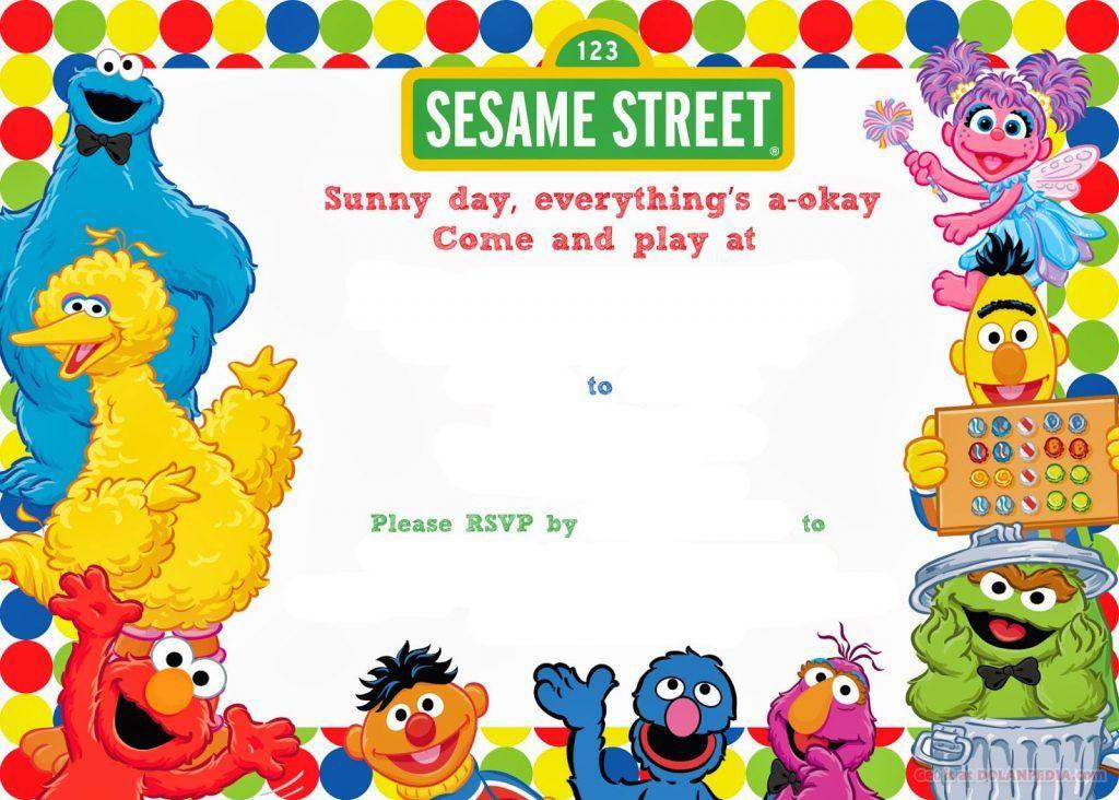 Free birthday daddy elmo clipart template iron on free stock Free Printable Sesame Street Birthday Invitation | Sesame Street ... free stock