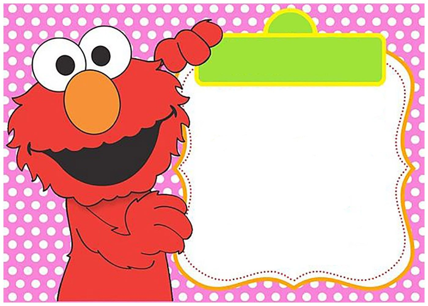 Free birthday daddy elmo clipart template iron on banner free stock Pink Elmo Invitation Template for Girls | Coolest Invitation ... banner free stock