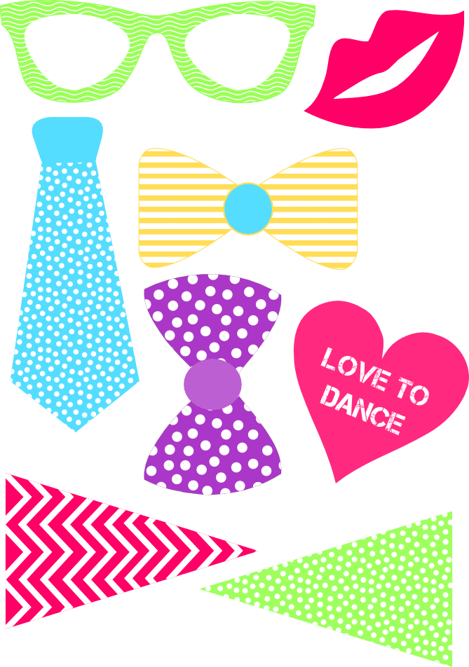 Free photo prop clipart crown picture royalty free stock DIY FREE DANCE PARTY PHOTO PROPS They loved this! - Download Dance ... picture royalty free stock