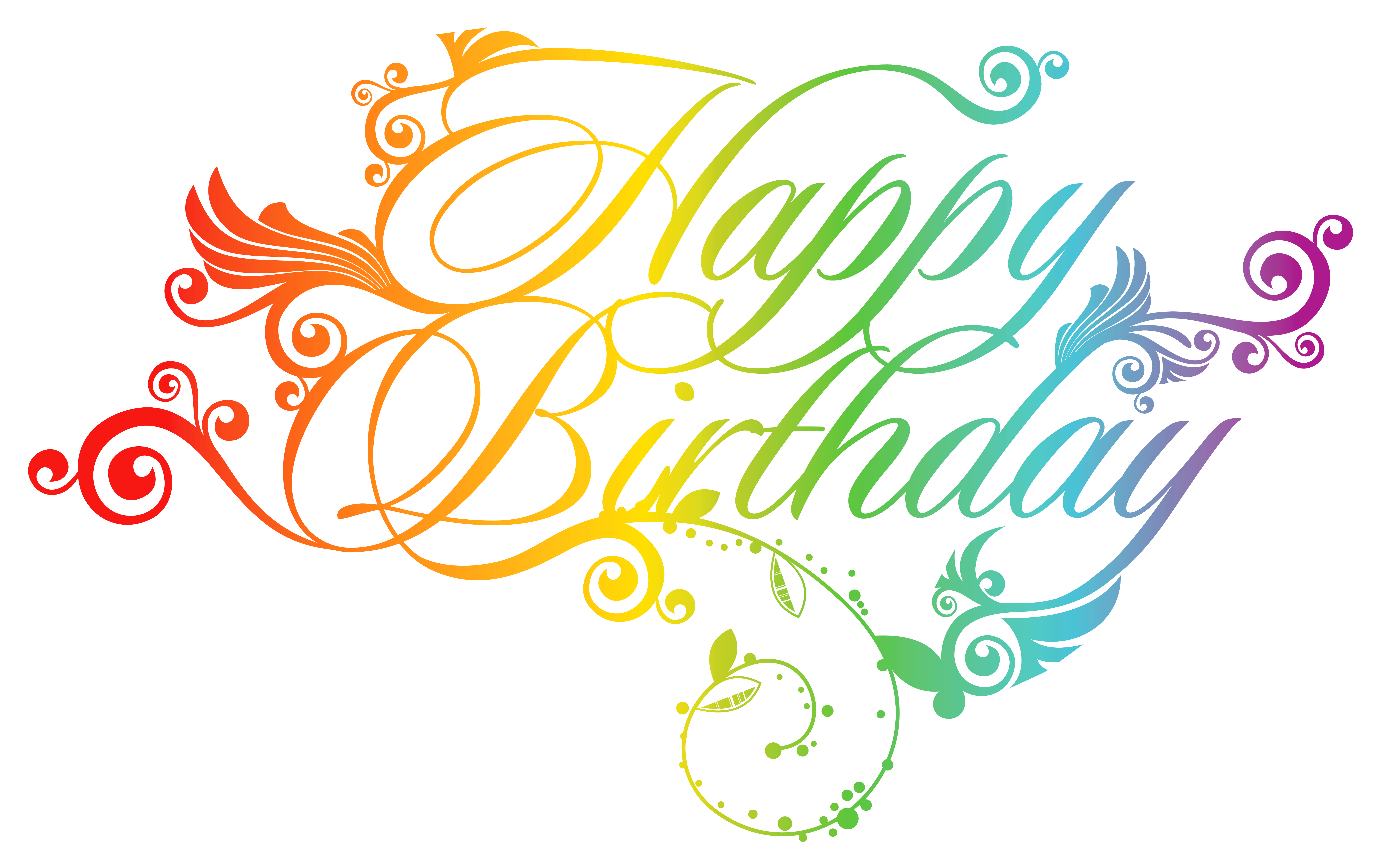 Happy birthday clipart flower for her picture transparent Colorful Happy Birthday PNG Clipart Picture | Gallery Yopriceville ... picture transparent