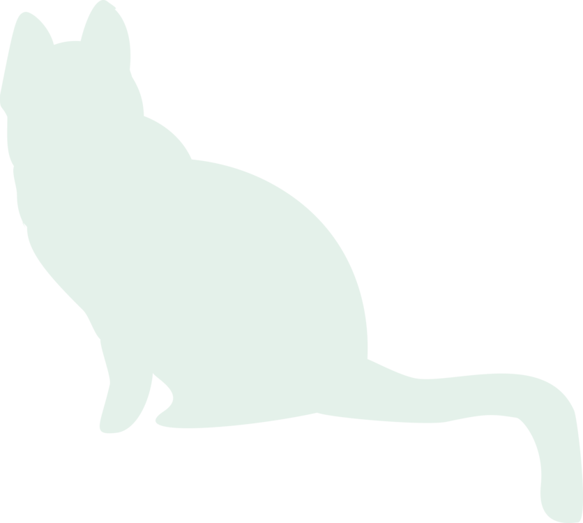Free black and white cat sitting clipart vector library Whiskers Cat Dog Canidae White free commercial clipart - Whiskers ... vector library