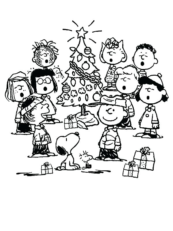 Snoopy drawing at paintingvalley. Free black and white charlie brown christmas clipart