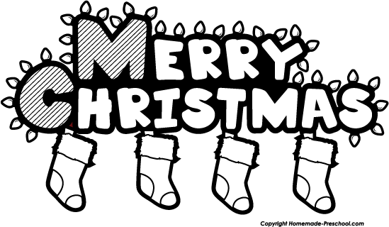 clip art clipartlook. Free black and white clipart christmas