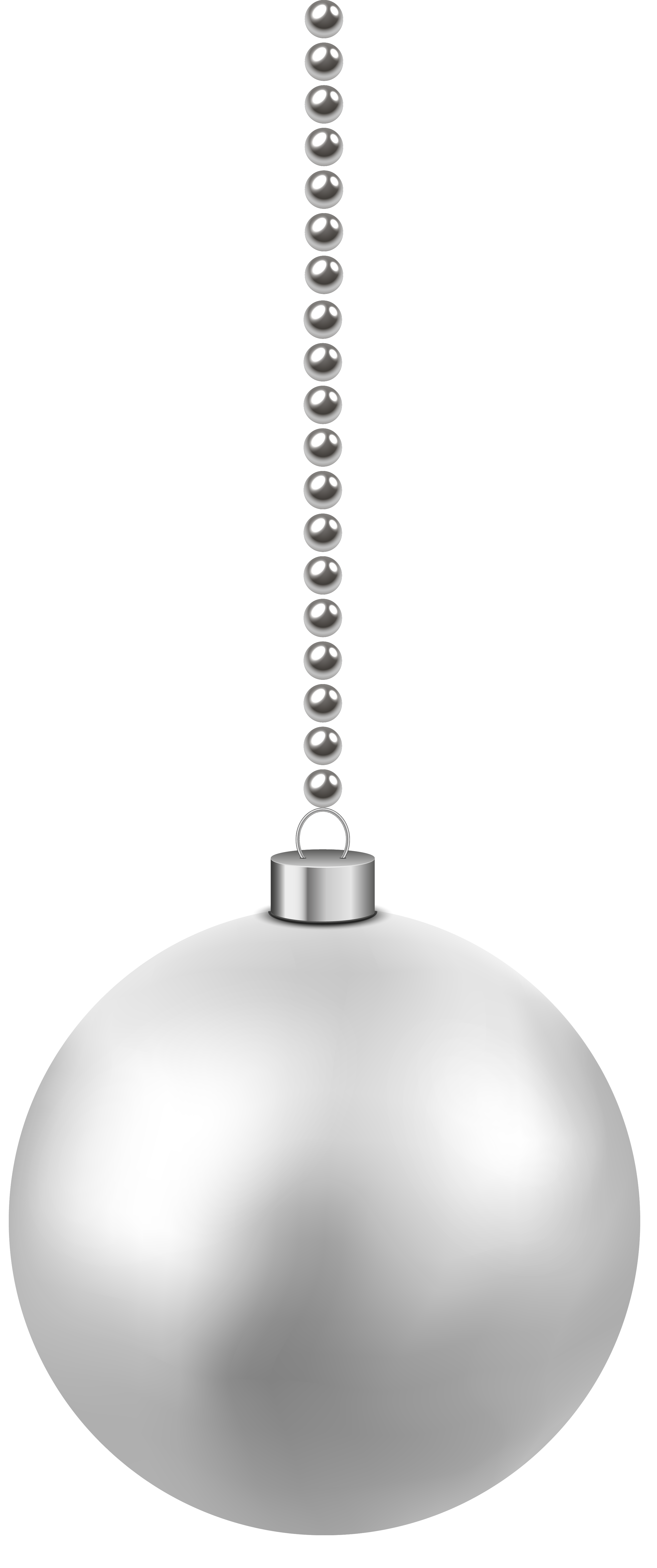 Free black and white christmas ornament clipart clipart black and white download White Christmas Hanging Ball PNG Clipart Image | Gallery ... clipart black and white download