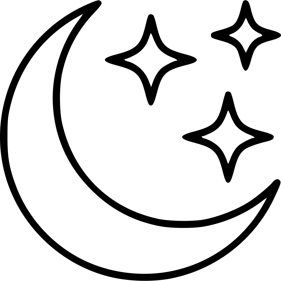 Free black and white clipart book cover with and half moon and stars on the outside of a bbook clip art library Moon Stars Svg Png Icon Free Download (#499107) - OnlineWebFonts.COM clip art library