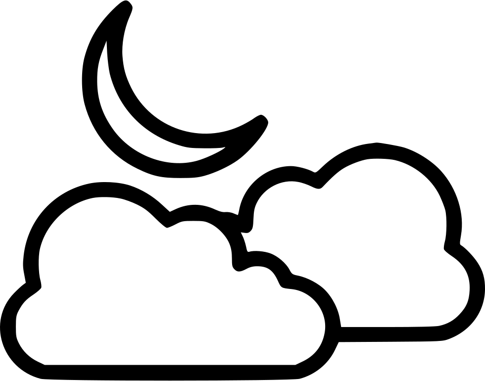Free black and white clipart book cover with and half moon and stars on the outside of a bbook black and white Cloud Moon Half Moon Svg Png Icon Free Download (#542321 ... black and white