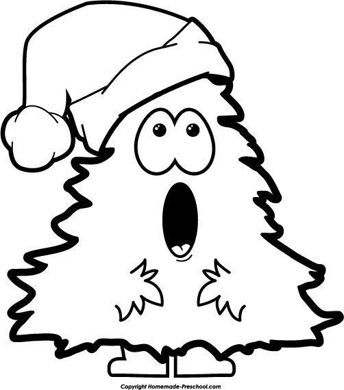 Clip art . Free black and white clipart christmas