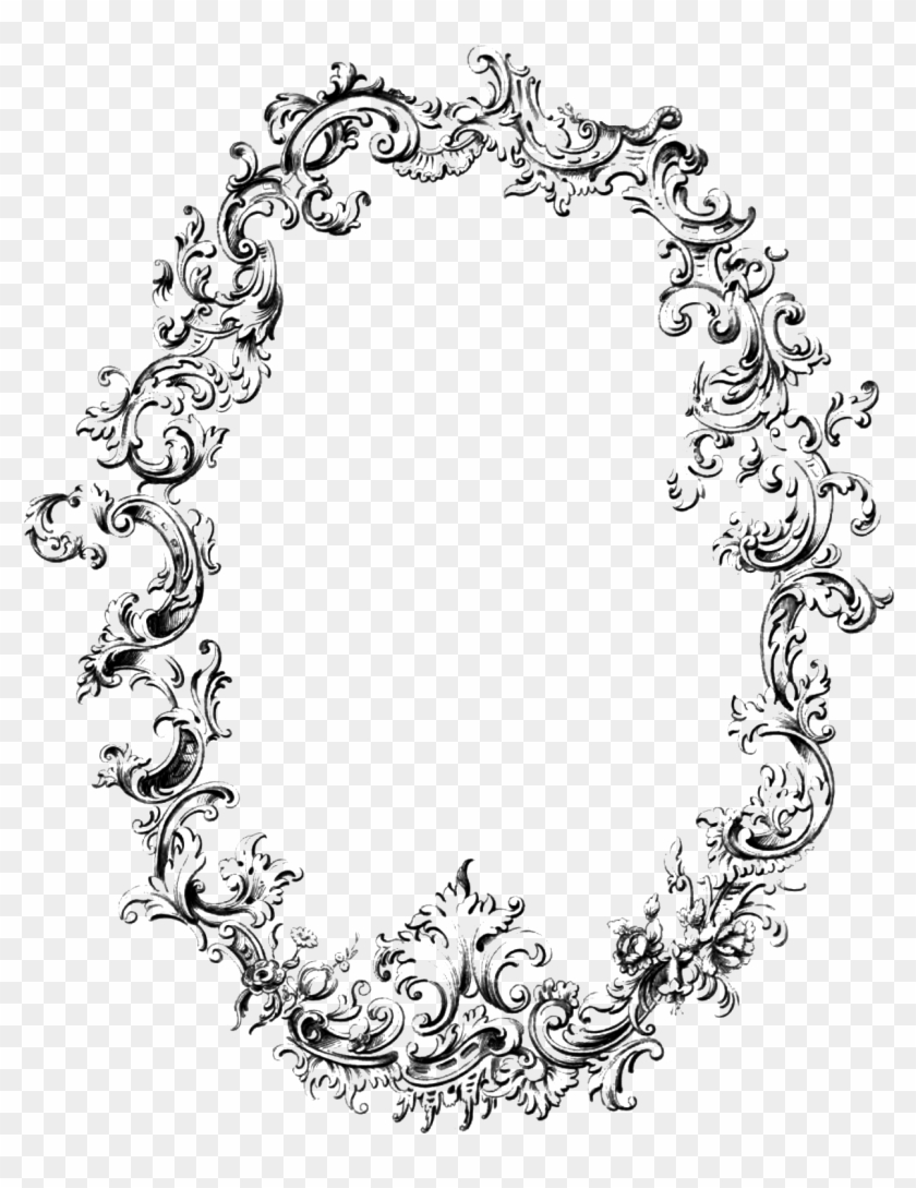 Free black and white clipart clear background vintage jpg library stock Free Fancy Frame Vintage Clip Art Image - Vintage Frame Transparent ... jpg library stock