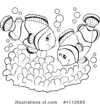 Free black and white clipart for clown fish clipart freeuse Clownfish Clipart #1112689 - Illustration by visekart clipart freeuse