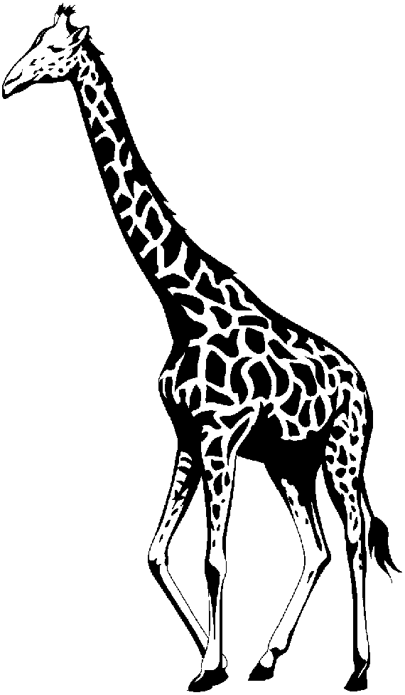 Images download clip art. Free black and white clipart for giraffe