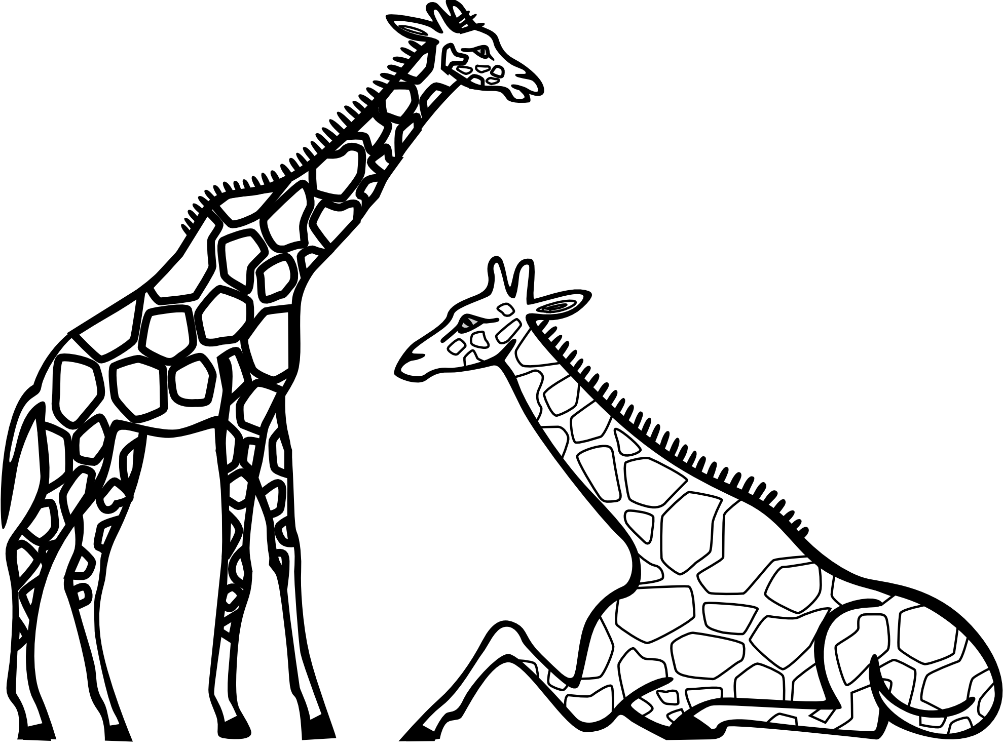 Free black and white clipart for giraffe. Download best