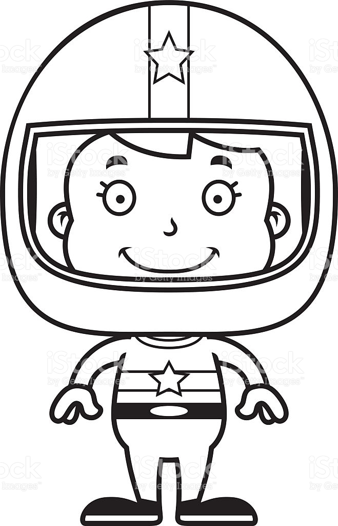 Free black and white clipart for girls racing image library Race Car Driver Drawing at PaintingValley.com | Explore collection ... image library