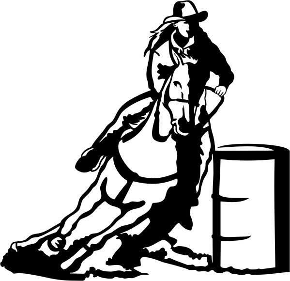Free black and white clipart for girls racing clipart free stock Free Barrel Racing Cliparts, Download Free Clip Art, Free Clip Art ... clipart free stock