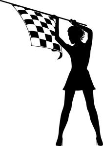 Free black and white clipart for girls racing picture royalty free library Free Checkered Flag Clip Art Image: Pretty Girl with Long Legs ... picture royalty free library
