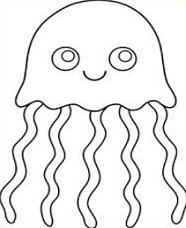 Free black and white clipart for jellyfish picture free library Jellyfish Clipart | Free download best Jellyfish Clipart on ... picture free library