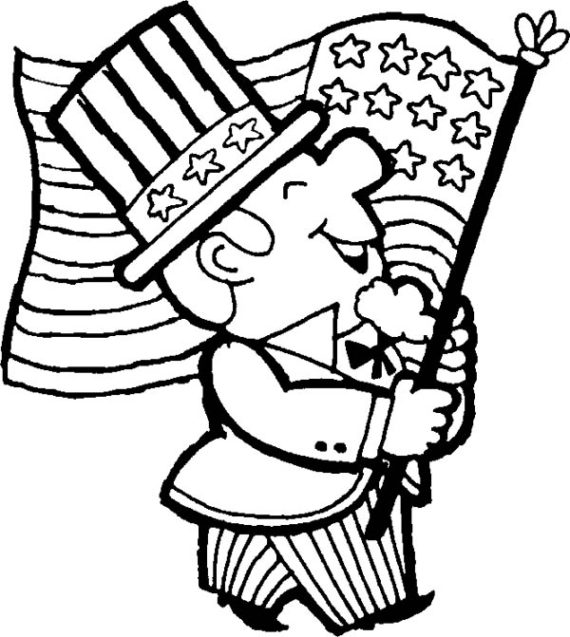 Free black and white clipart for memorial day sunday. Clip art of kids
