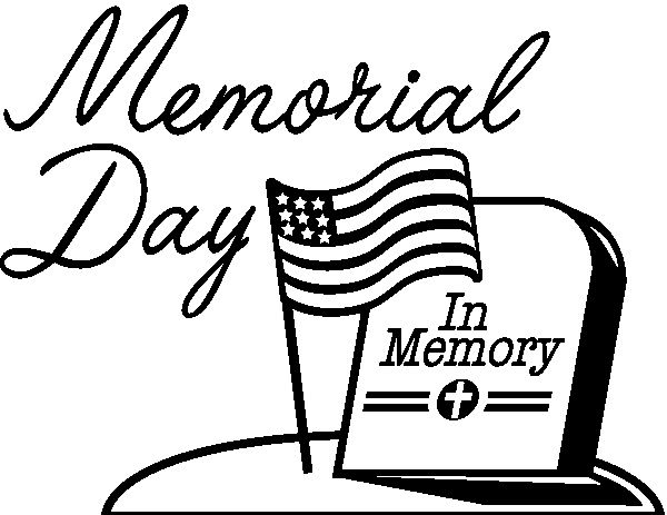 Clip art is a. Free black and white clipart for memorial day sunday