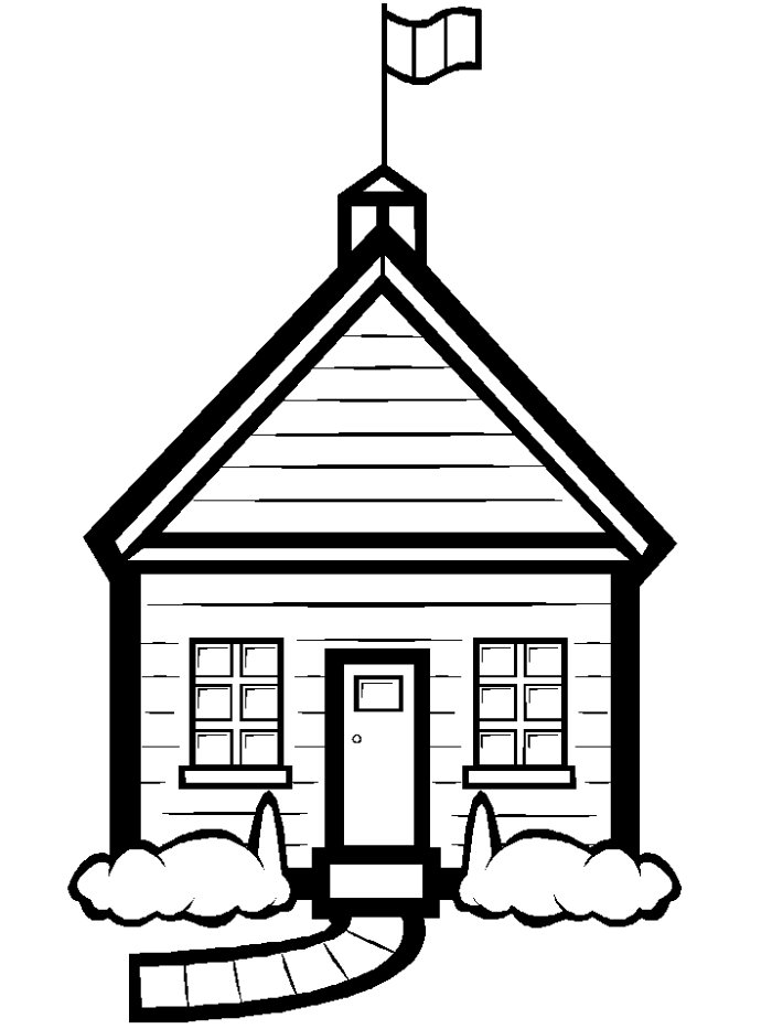 School download clip . Free clipart printable black and white line art houses