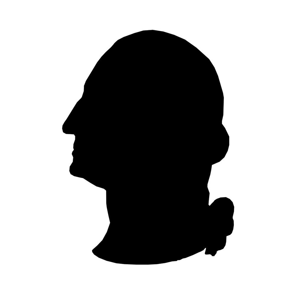 Free black and white clipart george washington boat illustration graphic black and white download George Washington silhouette stencil template | Stencil Templates ... graphic black and white download