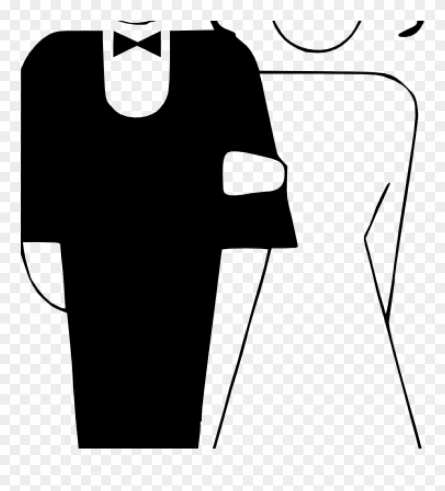 Banner stock marriage wedding. Free black and white clipart getting married