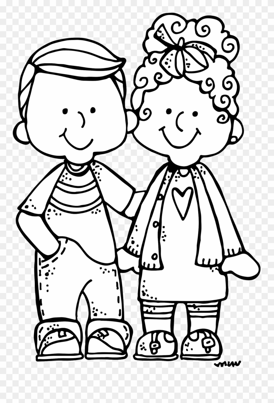 Free black and white clipart images family children graphic black and white library Melonheadz New Clip Art Sets Just Published As Well - Black And ... graphic black and white library