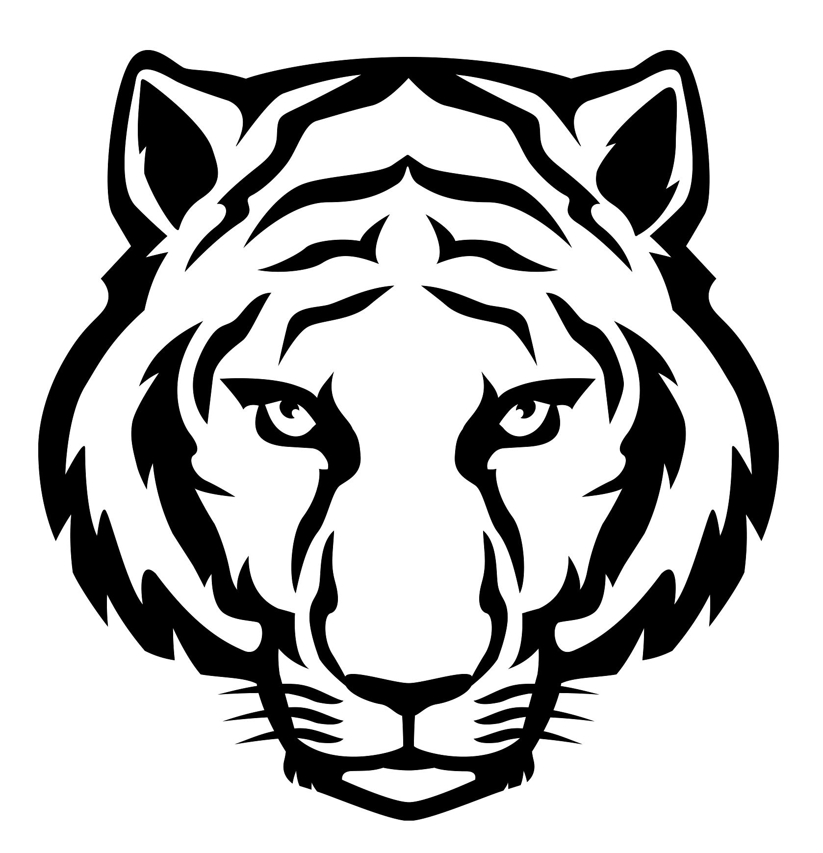 Free black and white clipart lsu tigers png library stock Download your free LSU Tigers Stencil here. Save time and start your ... png library stock