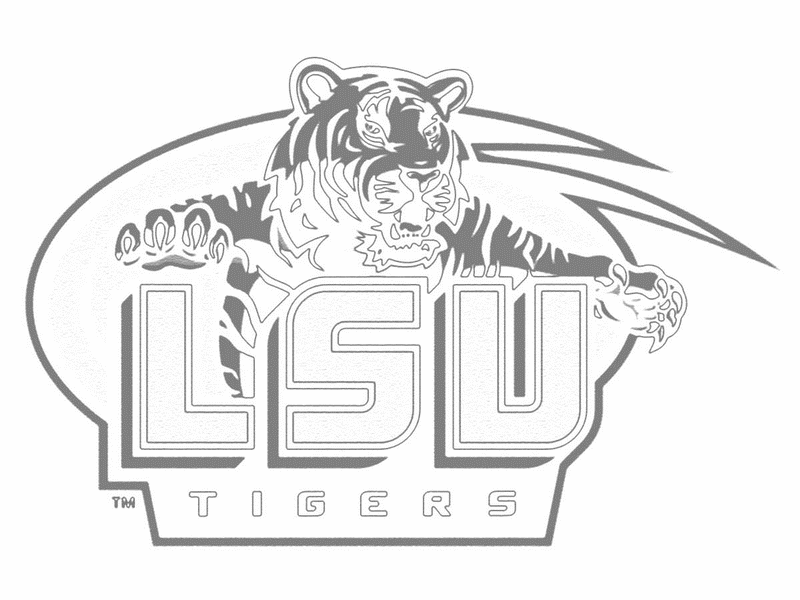 Free black and white clipart lsu tigers