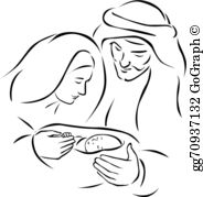 Free black and white clipart mary and jesus svg royalty free stock Virgin Mary Drawings Clip Art - Royalty Free - GoGraph svg royalty free stock