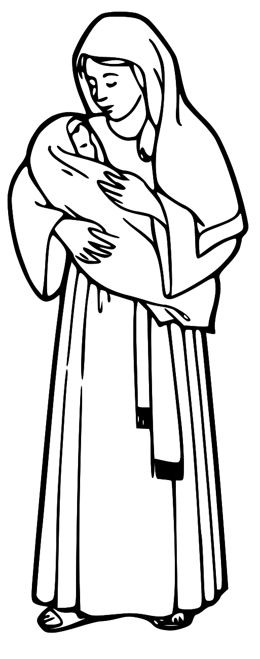 Lds clipart baby jesus graphic library library Jesus Clipart For Kids Black And White | Free download best Jesus ... graphic library library