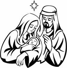 Free black and white clipart mary and jesus jpg freeuse stock Image result for Jesus Mary and Joseph Holy Family vector graphics ... jpg freeuse stock