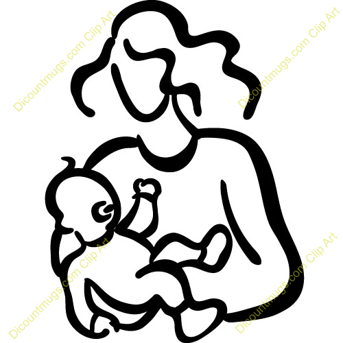 Drawing download best on. Free black and white clipart mother and child
