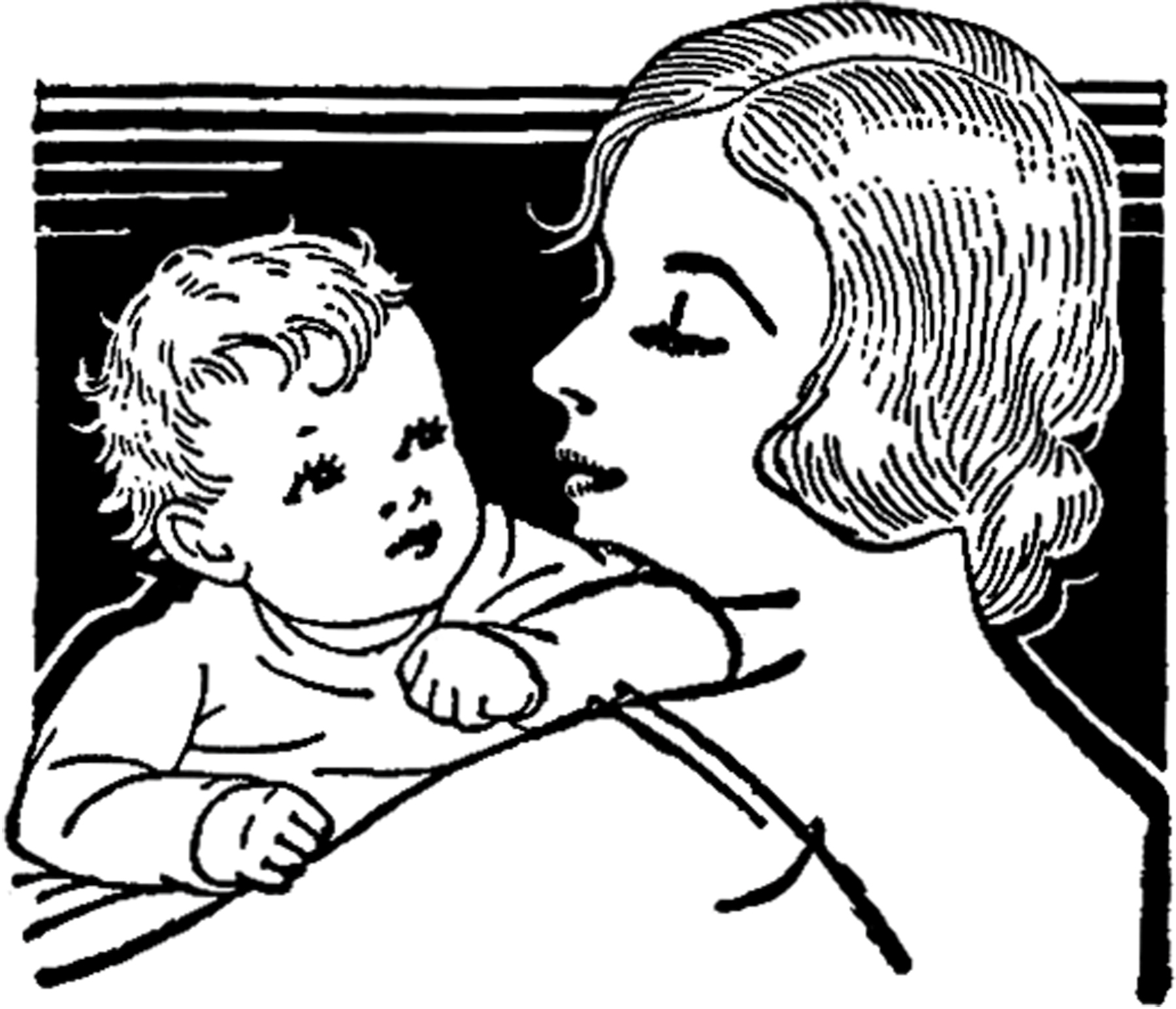 illustrations the graphics. Free black and white clipart mother and child
