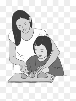 Free black and white clipart mother comforting child image freeuse Download Free png Mom Taught Children Homework, Children Clipart ... image freeuse