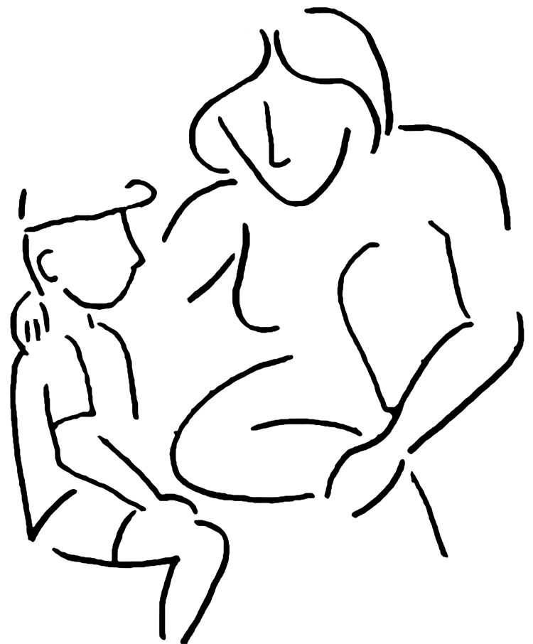 Free black and white clipart mother comforting child image library Free Mother Daughter Clipart, Download Free Clip Art, Free Clip Art ... image library