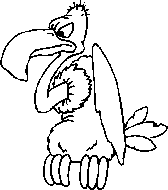 Free black and white clipart of a vulture. Clip art panda images