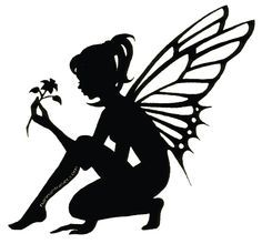Free black and white clipart of fairies