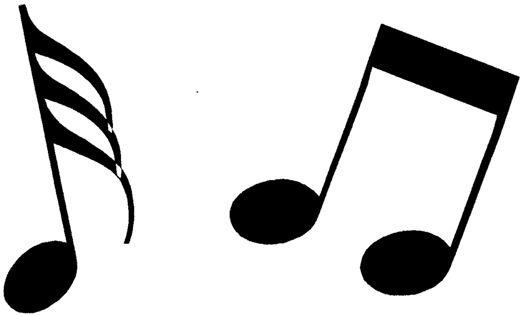 Clipartbarn . Free black and white clipart of music notes