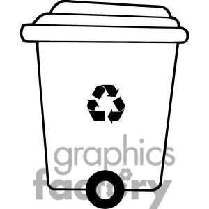 Free black and white clipart of trash cans picture library library Recycle trash can clipart. Royalty-free clipart # 379660 | Trash ... picture library library