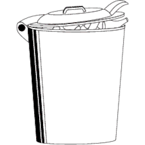 Free black and white clipart of trash cans vector free stock Trash Can clipart, cliparts of Trash Can free download (wmf, eps ... vector free stock