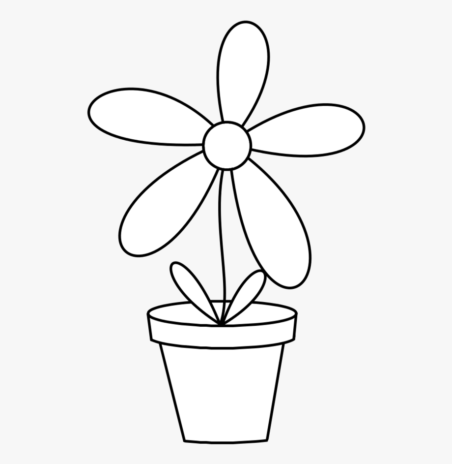 Free black and white clipart of trees planted in buckets png black and white Flower Pots Png Black And White Stock Techflourish - Flowerpot ... png black and white