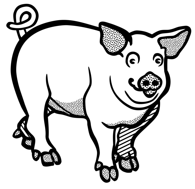 Free black and white clipart of wild boars vector transparent stock Download Free png Wild Boar Line Art Drawing Black And White Free ... vector transparent stock