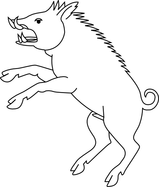 Free black and white clipart of wild boars transparent Wild Boar clip art Free vector in Open office drawing svg ( .svg ... transparent