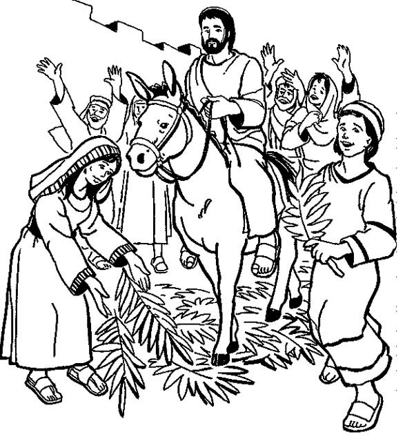 Free black and white clipart palm sunday transparent library Palm Sunday Clip Art Black And White | Clipart Panda - Free Clipart ... transparent library