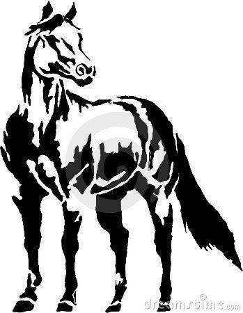 Free black and white clipart quarter illustration. Western halter horse clip