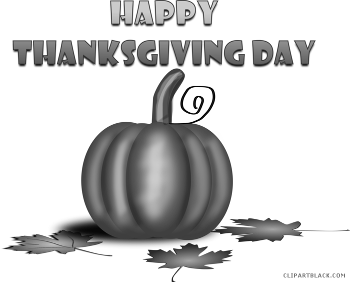 Happy thanksgiving black and white clipart image transparent Happy Thanksgiving Turkey Animal free black white clipart images ... image transparent