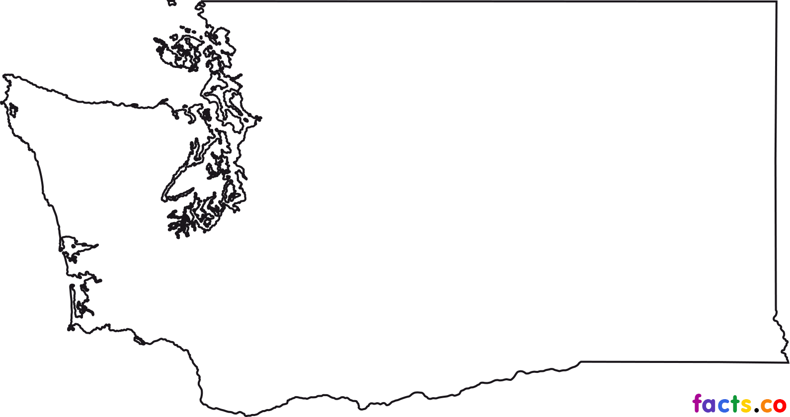 Free black and white clipart washington state illustration graphic transparent download Download Free png Washington state outline png 2 » PNG Image - DLPNG.com graphic transparent download