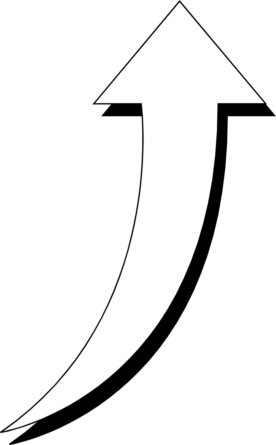 Curve computer icons clip. Free black and white curved triangle clipart